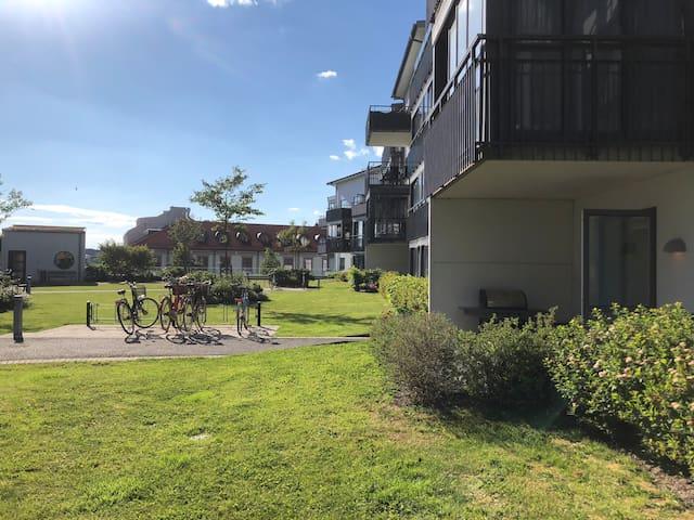 Härlig lägenhet med uteplats i centrala Varberg