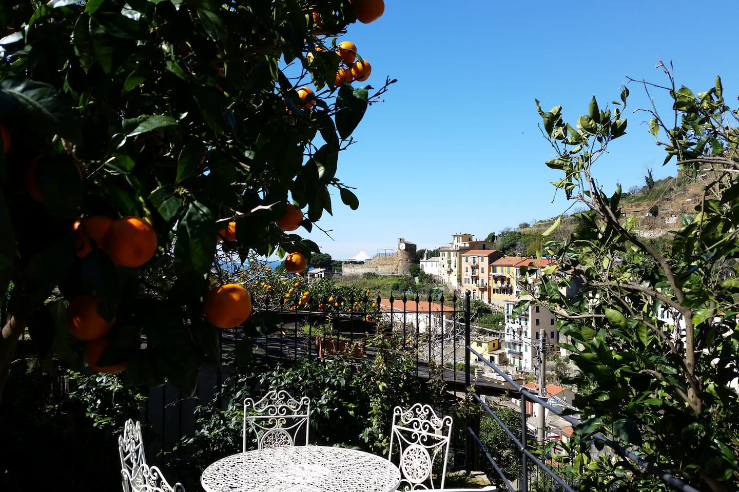 Private garden and view from Canneto apartment.