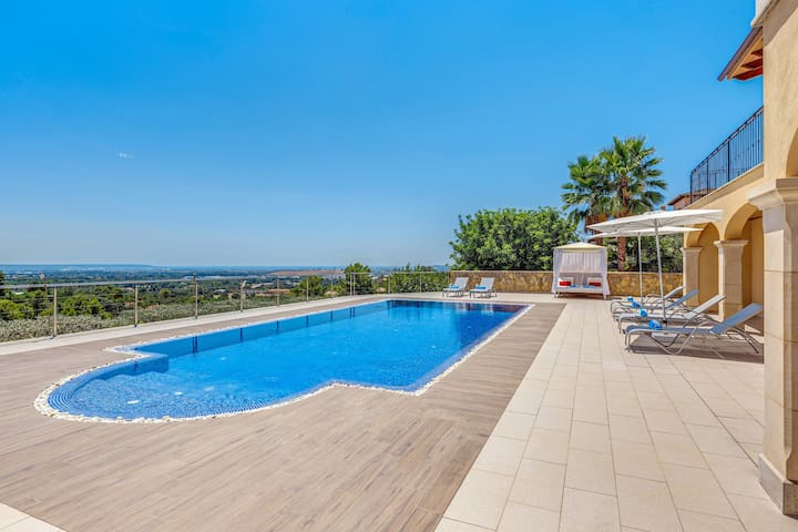 Villa Liman with Sea View, Mountain View, Wi-Fi, Pool, Terrace, Balcony & Garden; Parking Available