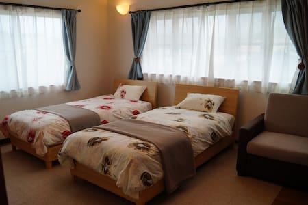 Guesthouse Yumeya Twin Room - Fujikawaguchiko-machi