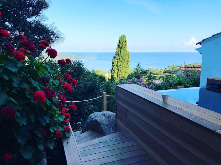 Little heaven with sea view in Corsica