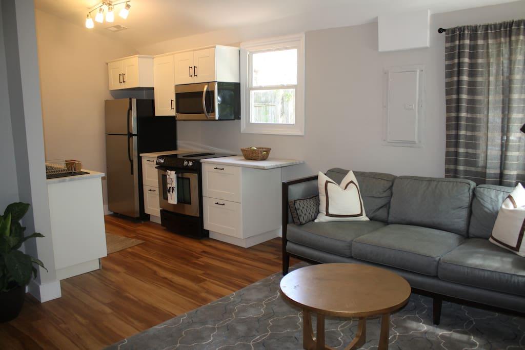 Open Floor Living/Kitchen Space