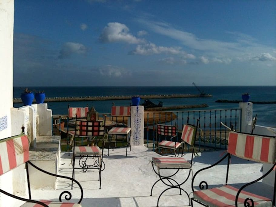 Sipping mint tea where the Mediterranean sea meets the African Continental