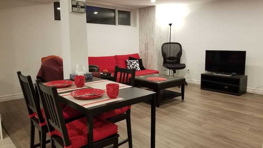 Newly renovated 2 bedroom suite centrally located