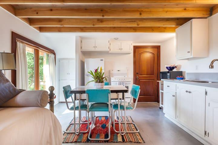 Rustic Studio with Private Garden Patio