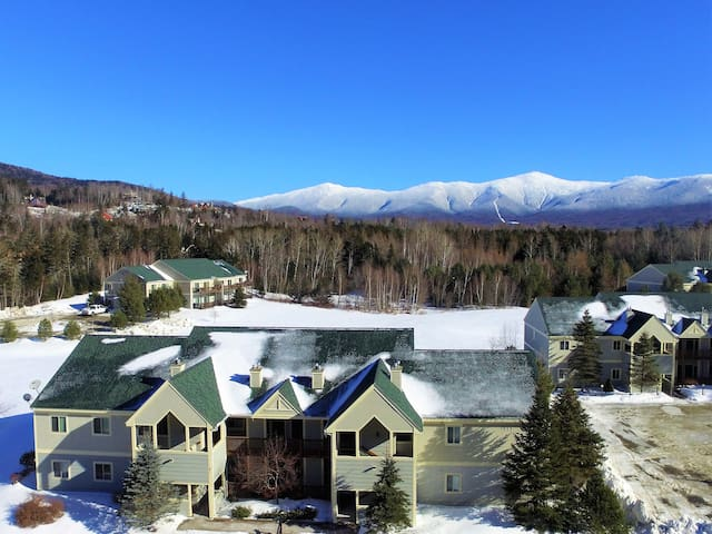 SC31: AWESOME VIEW OF MOUNT WASHINGTON! Family getaway, easy access to Mt Washington, Skiing, Conway, and the white mountains! GROCERY DELIVERY AVAILABLE!