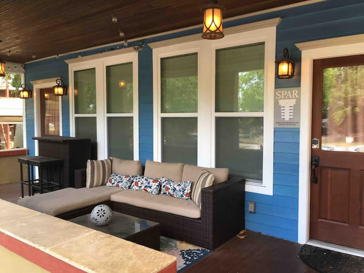 Porch Life Close to Breweries & Downtown Venues!