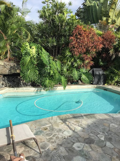 Private sparkling pool for your round the clock enjoyment