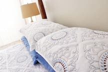 Comfy beds and bedding