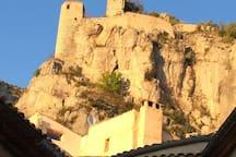 The village castle, above the house