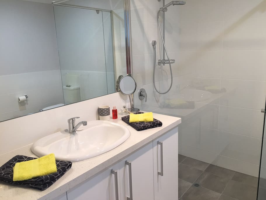 Separate bathroom - with shower vanity and WC