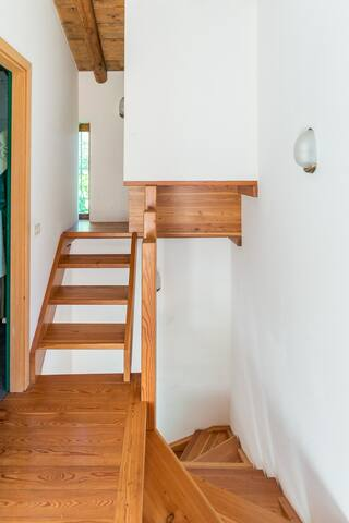little stairs to the built-in closet