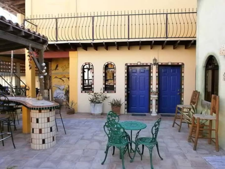 Welcome to your casita!  This is your adorable courtyard entry!
