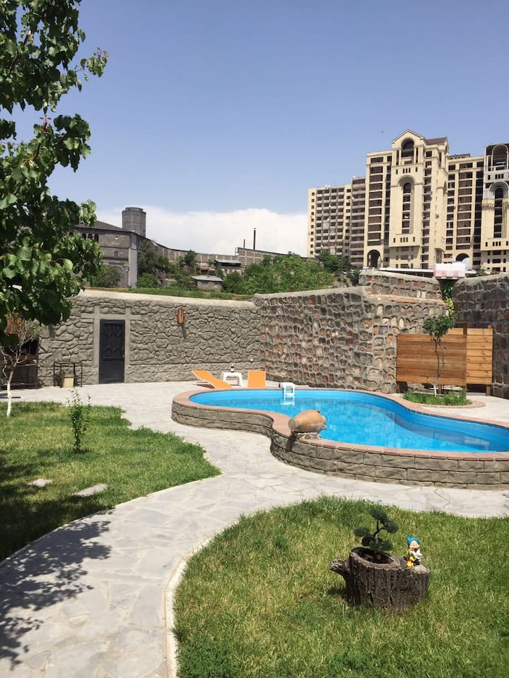 Cozy Apart. with the best patio and swimming pool