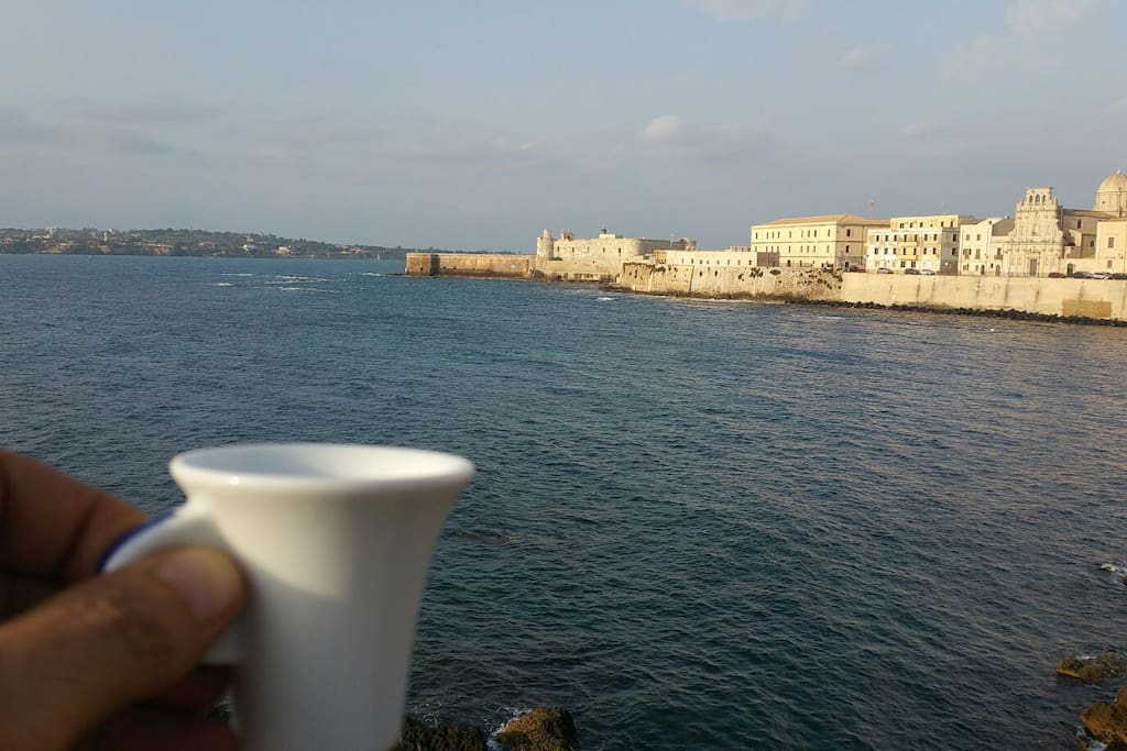 Italian coffe or cappuccino but seafront