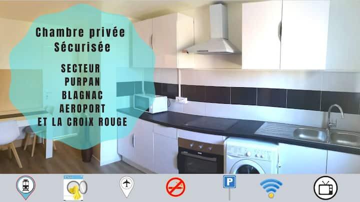 Chambre 1 avec Tv Toulouse Purpan blagnac