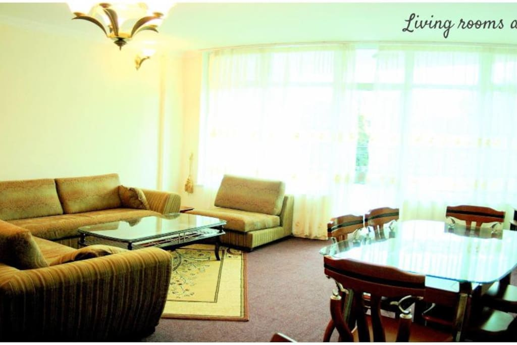 Your spacious private living/dining room on your floor, with a balcony!!