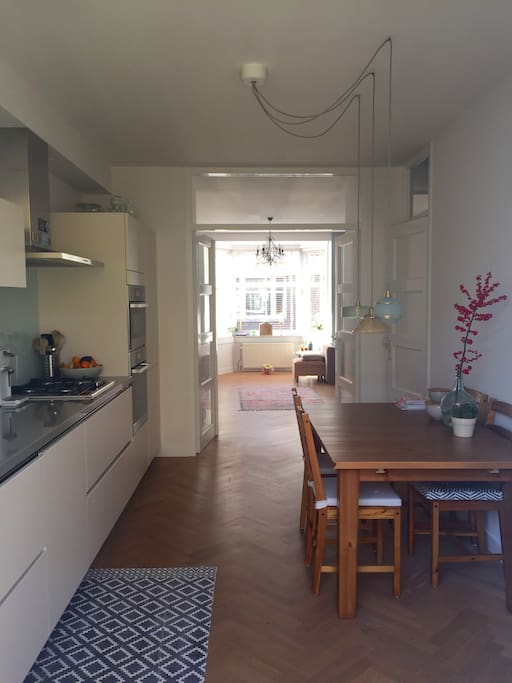 Fully equipped kitchen which has all the amenities, herbs and whatever you need.