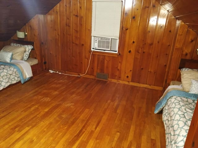 Beautiful Pine Wood Upstairs Room