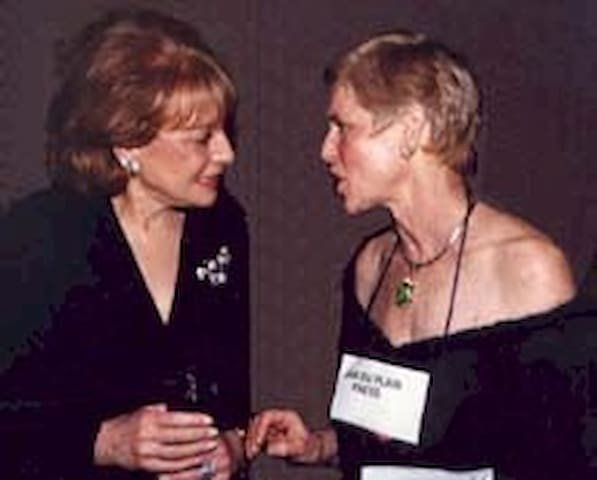 Jan hobnobbing with Barbara Walters