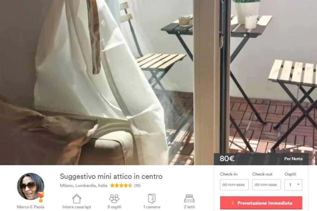 Vedi anche: Suggestivo mini attico in centro, dai un'occhiata a questo annuncio su Airbnb https://www.airbnb.com/rooms/6124285?s=22&user_id=31682138&ref_device_id=94f510bb67a7fd8c