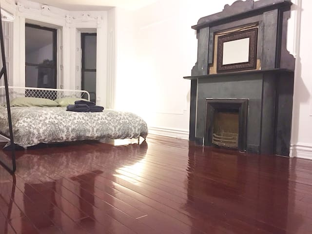 Large room with a King size bed