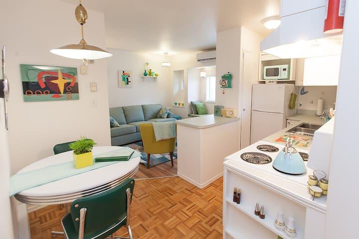 Bright cozy one bedroom apartment