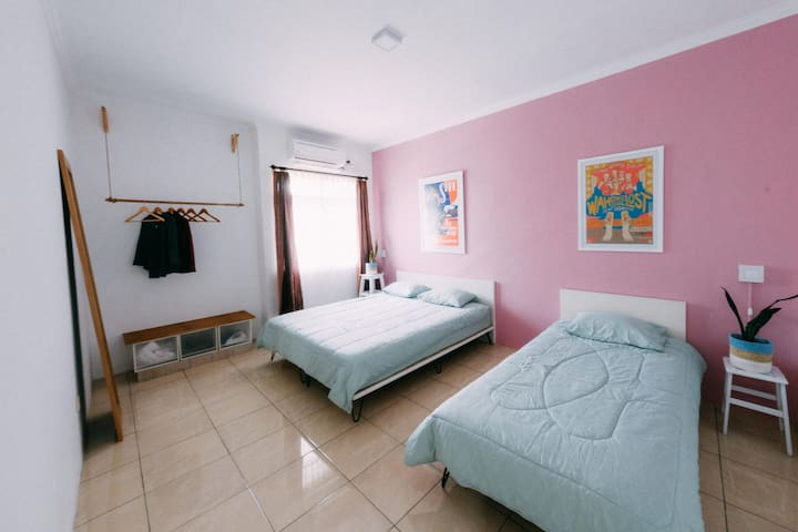 Master Bedroom (a King Bed + a Single Bed)
