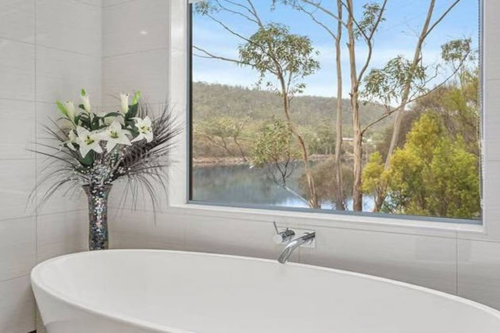 views of the river even from the bath tub