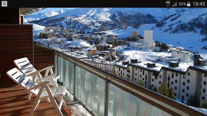 Vacanze sulla neve a Sestriere in residence.