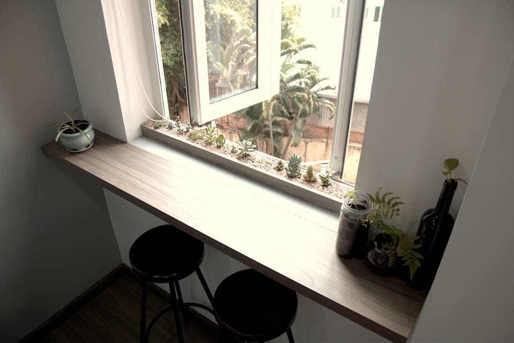 The window in the living room