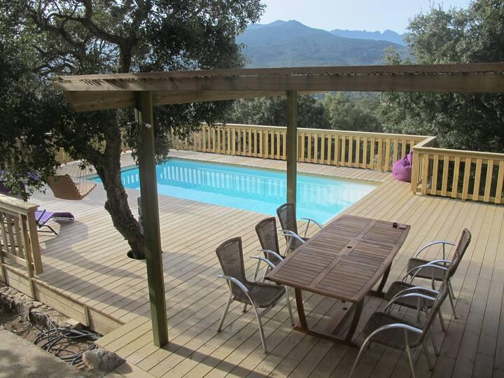 A Leccia **** spa piscine chauffée vue panoramique