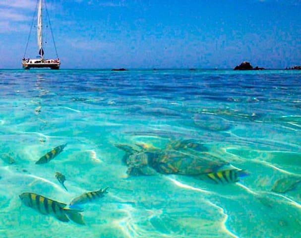 Boca Batalina Beach, famous for snorkling, 5 min walk