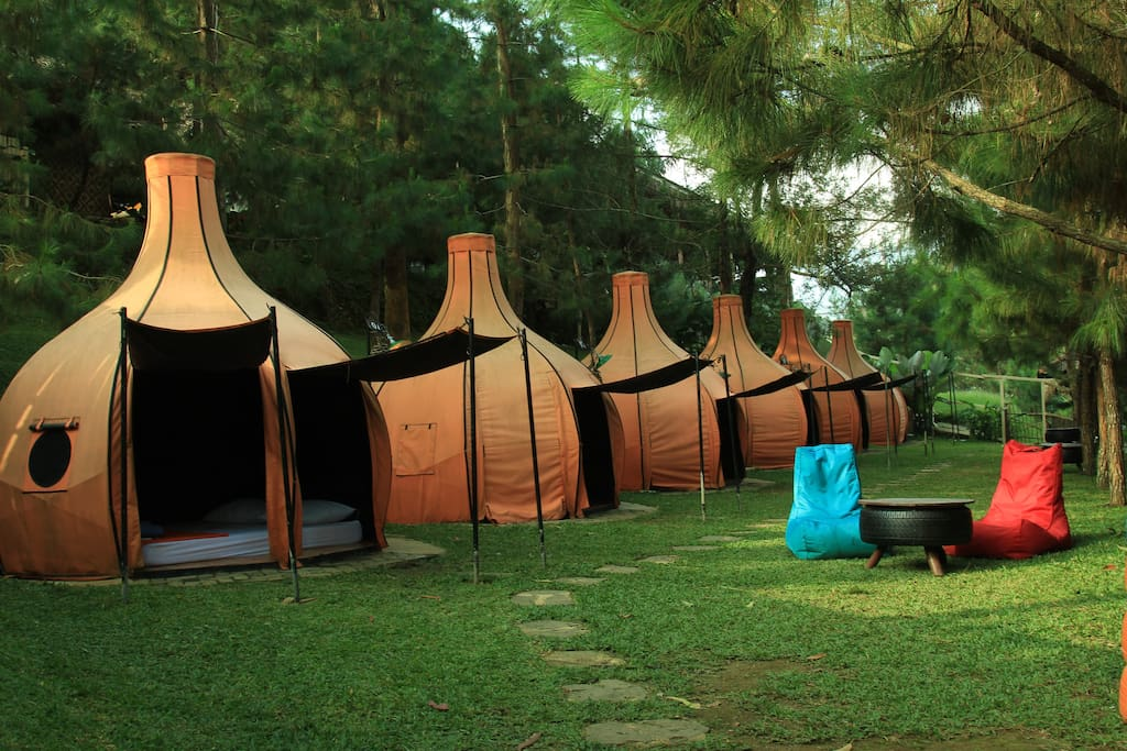Sunrise tent view