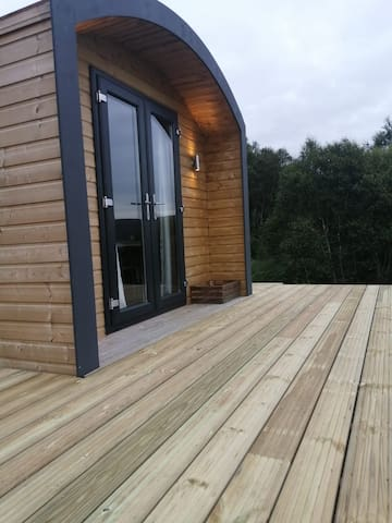 Luxurious glamping pod with spectacular views.