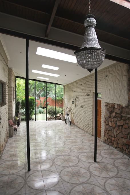 Atrium from kitchen