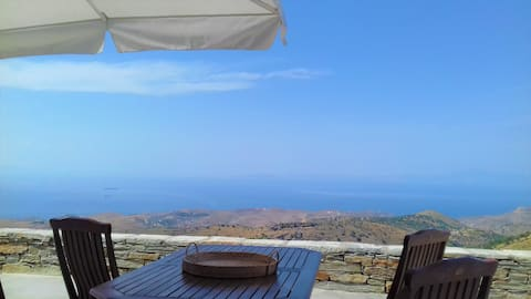 Aegean blue sea views Apt over Kea island-Cyclades
