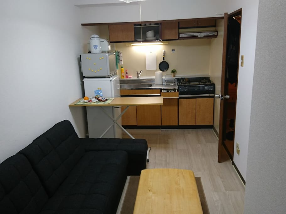 Convenient living and kitchen area