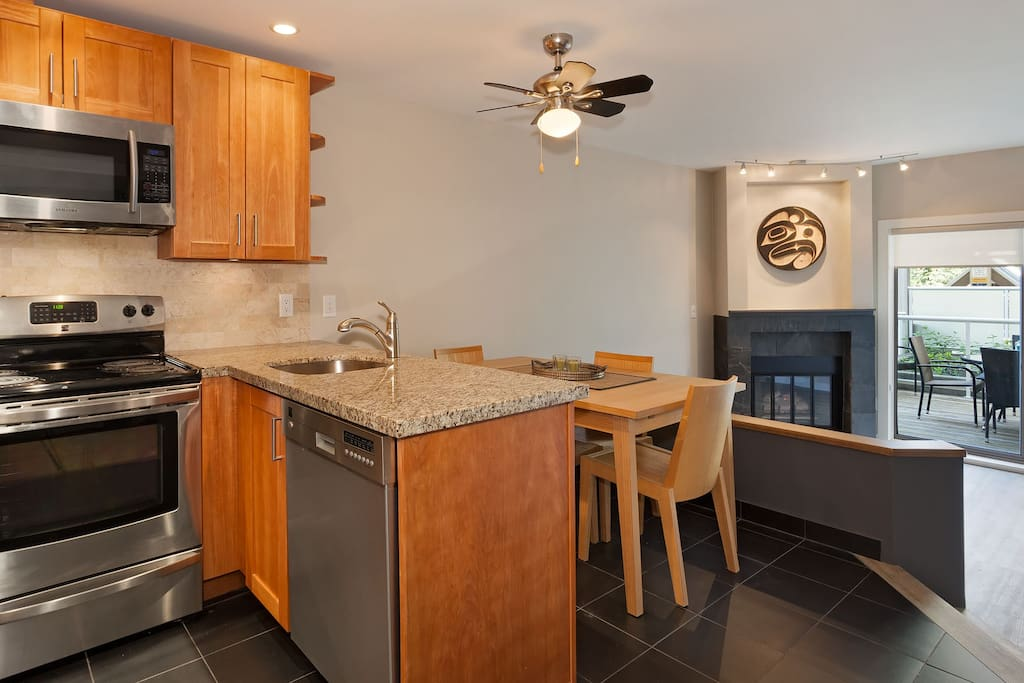 Fully equipped and modern kitchen with all modern appliances.