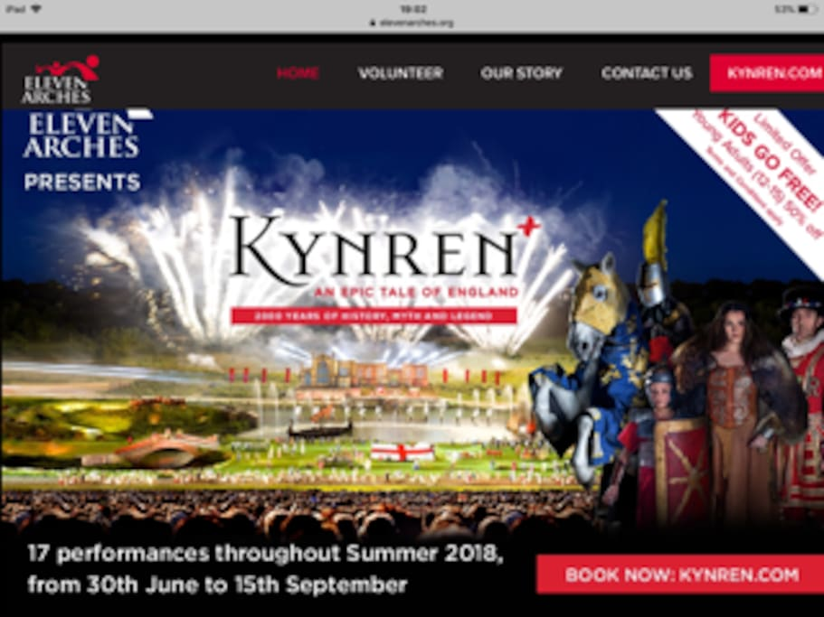 Kynren. A local outdoor re-enactment show of history.