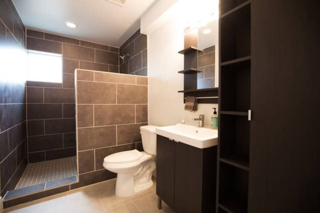 Private bathroom includes shower