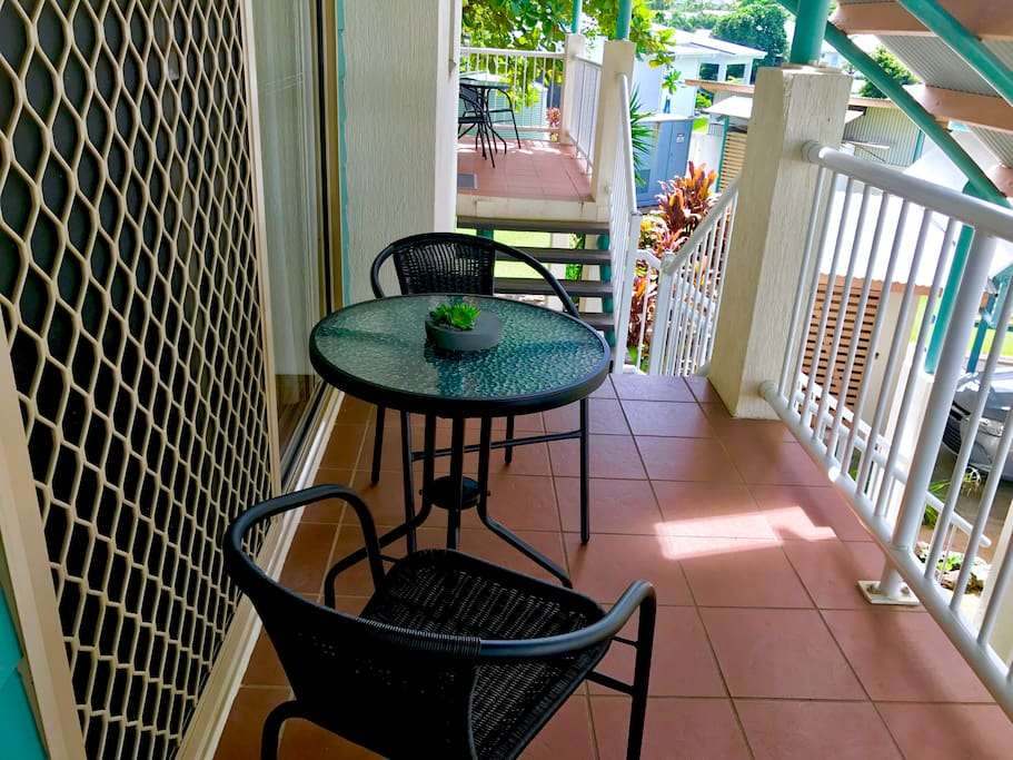 Enjoy a morning coffee on the front balcony.... or the balcony at the back!