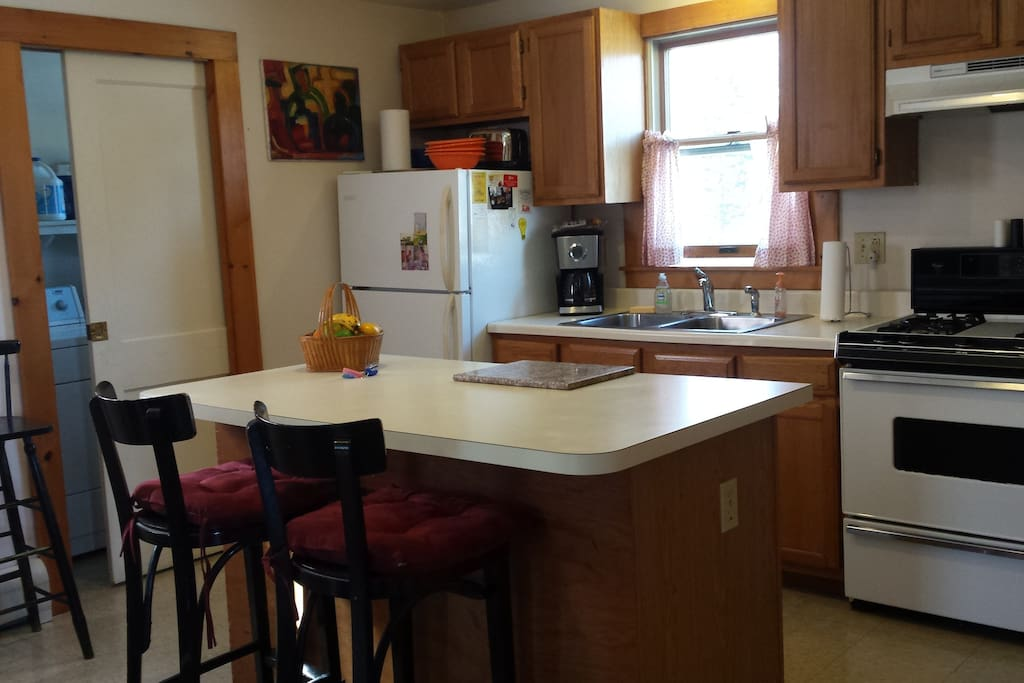 Kitchen is stocked with all the amenities you need.