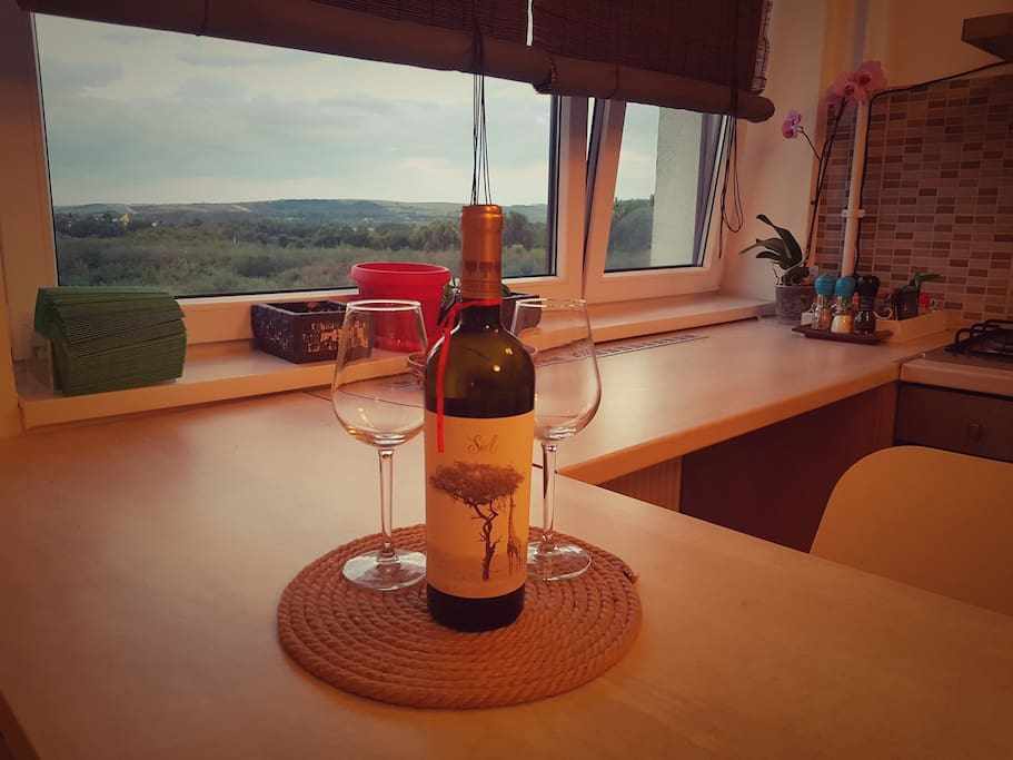 Great view and great wine for you