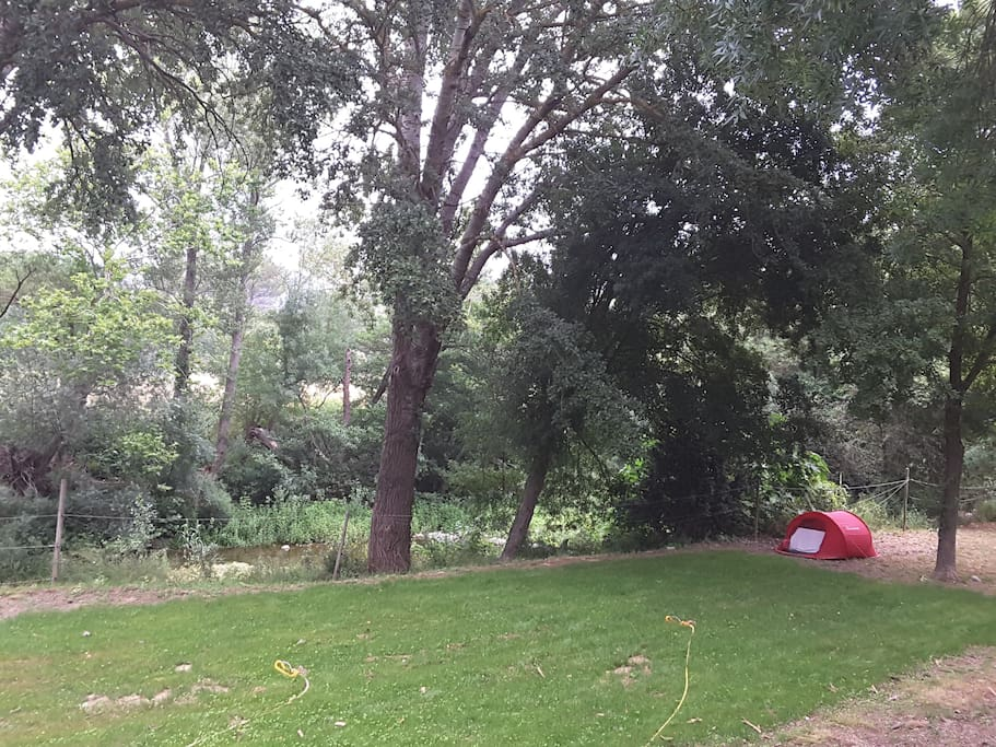 emplacements pour les tentes