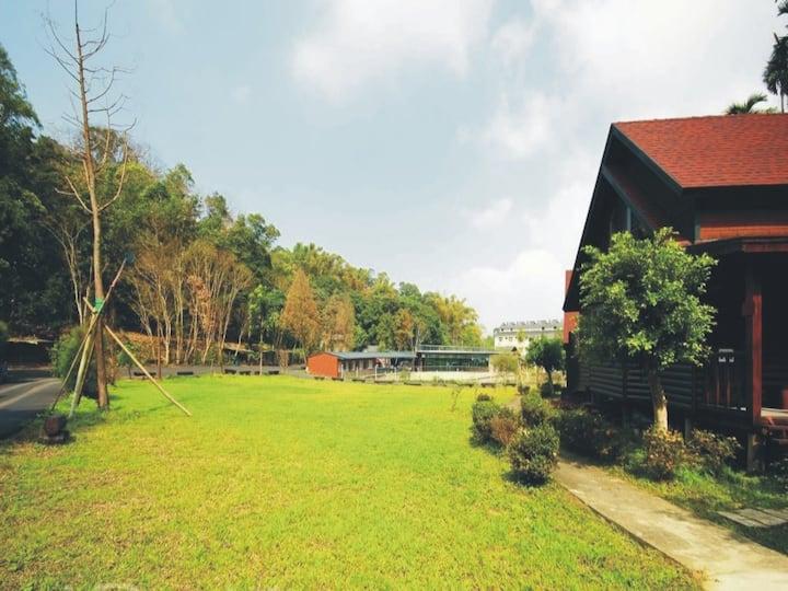 南投竹山 雙湖度假山莊-簡約 木屋雙人房