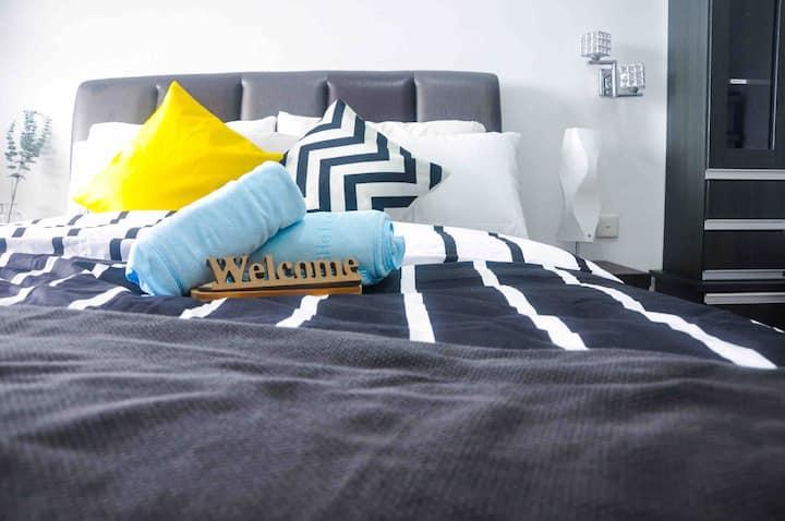 🚨Fully Sanitised• 1 BDR cozy homestay@ Melaka HUB
