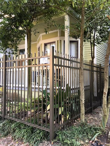 Gated home in Savannah's Victorian Historical community