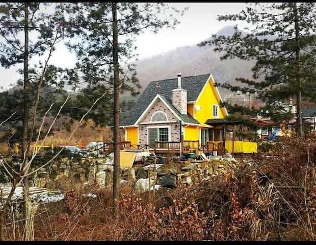 콩수니 벽난로집(정원모닥불,바베큐)