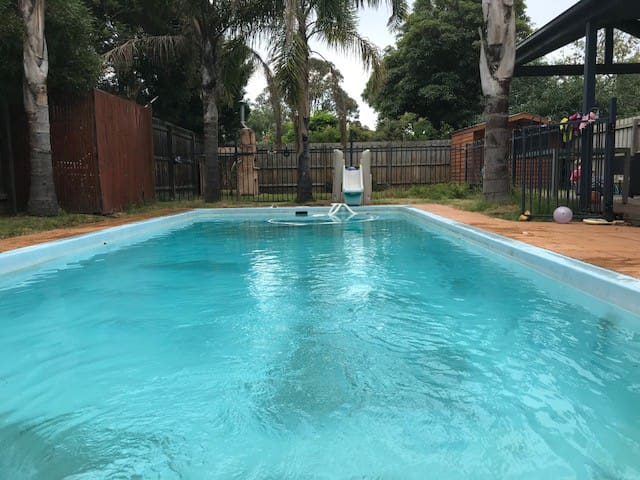 Modern home with pool, 500 metres from the beach!